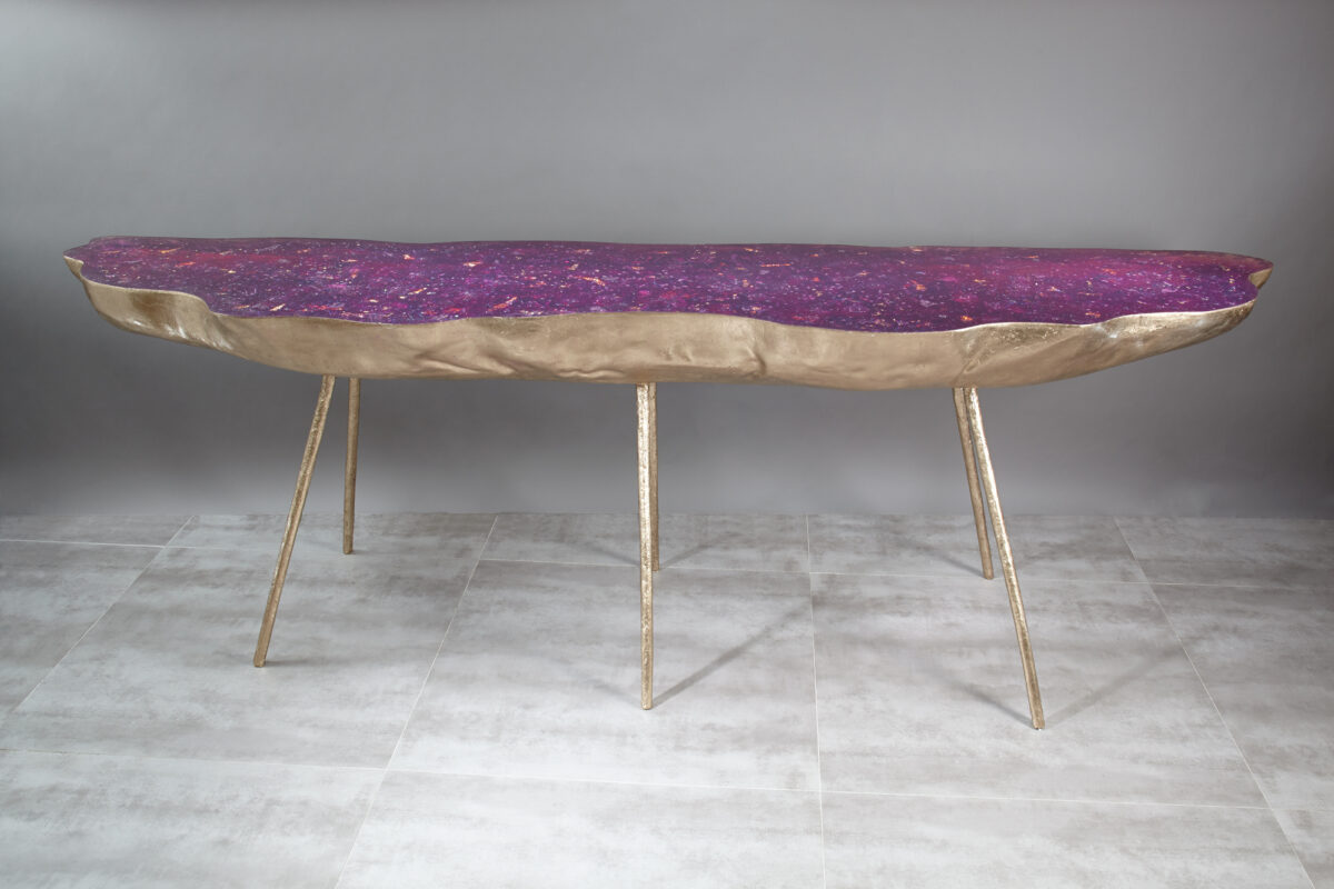 Amethyst console table