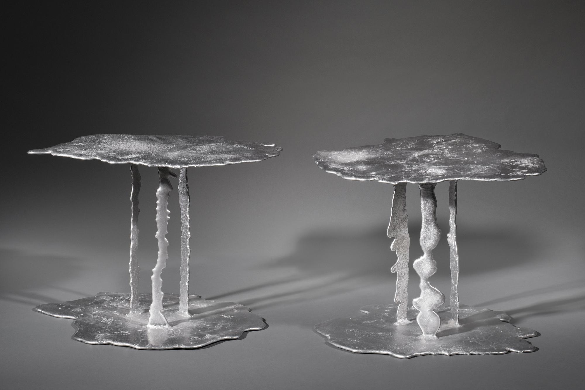 2 TABLES BASSES FLAQUE
