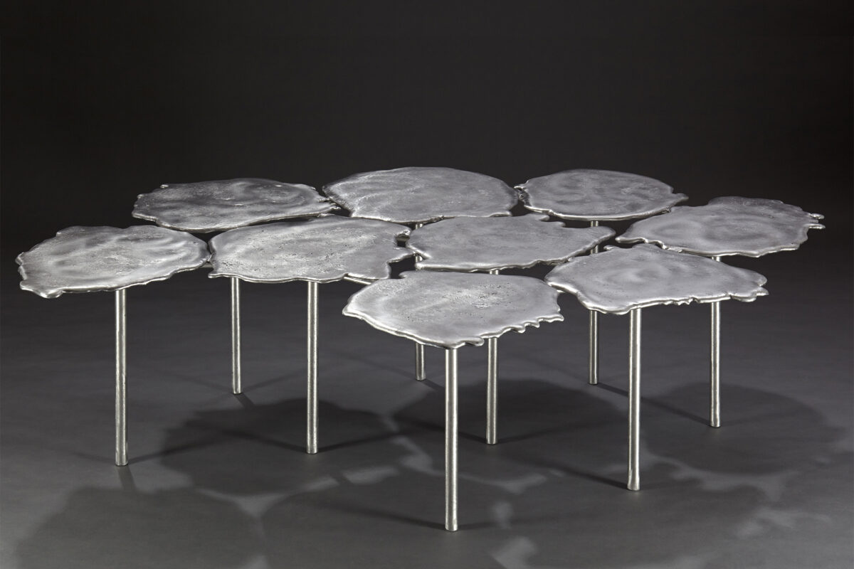 Seoul random aluminum coffee table